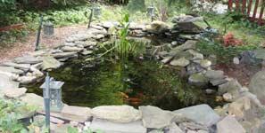 Glassfibre for ponds
